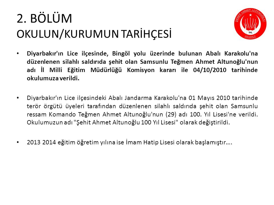 Diyarbakır'ın Lice ilçesinde, Bingöl yolu üzerinde bulunan Abalı Karakolu'na düzenlenen silahlı saldırıda şehit olan Samsunlu Teğmen Ahmet Altunoğlu'n