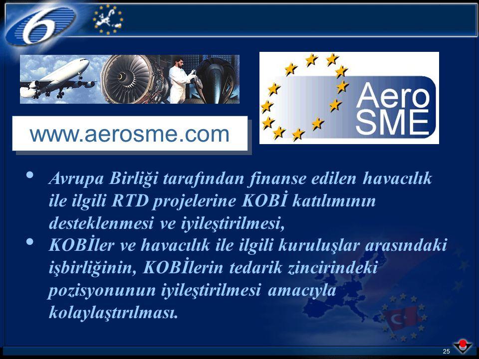 24 Proje listesi http://www.aerosme.com adresinde yayınlanmaktadır.