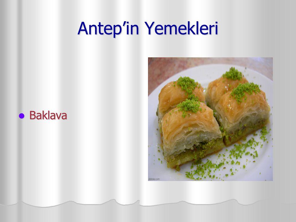 Antep'in Yemekleri Baklava Baklava