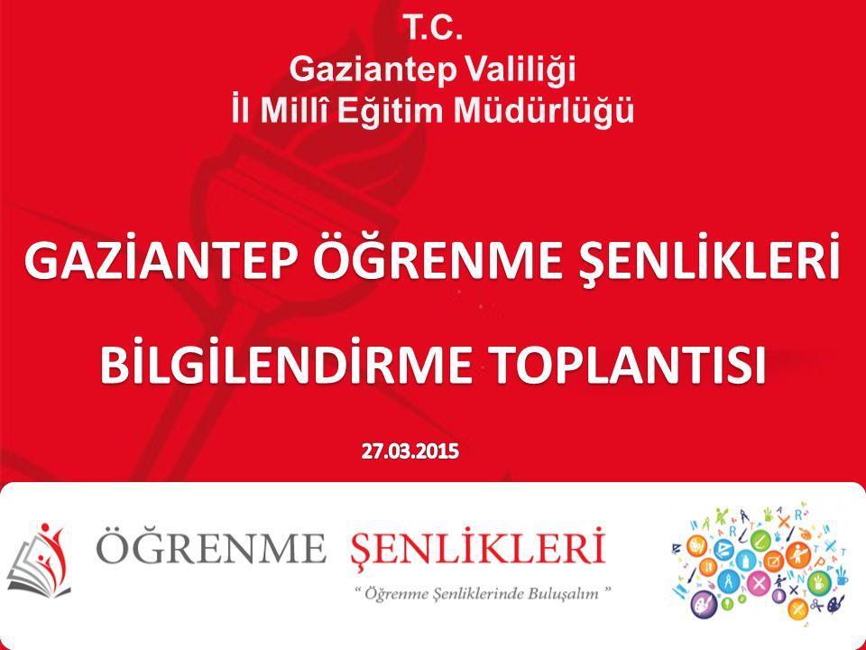 T.C. Gaziantep Valiliği İl Millî Eğitim Müdürlüğü GAZİANTEP ÖĞRENME ŞENLİKLERİ BİLGİLENDİRME TOPLANTISI