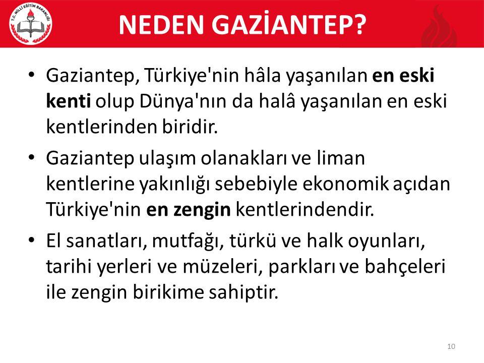 NEDEN GAZİANTEP.