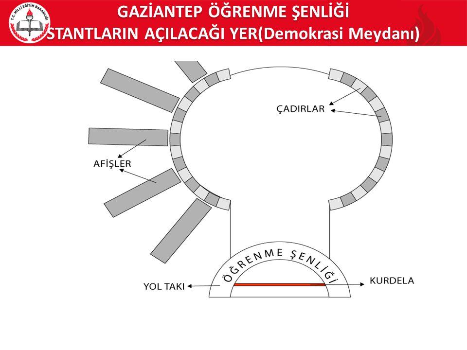 GAZİANTEP ÖĞRENME ŞENLİĞİ STANTLARIN AÇILACAĞI YER(Demokrasi Meydanı)