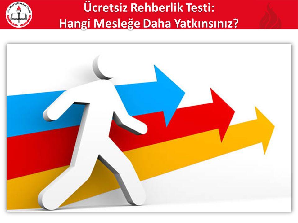 Ücretsiz Rehberlik Testi: Hangi Mesleğe Daha Yatkınsınız?