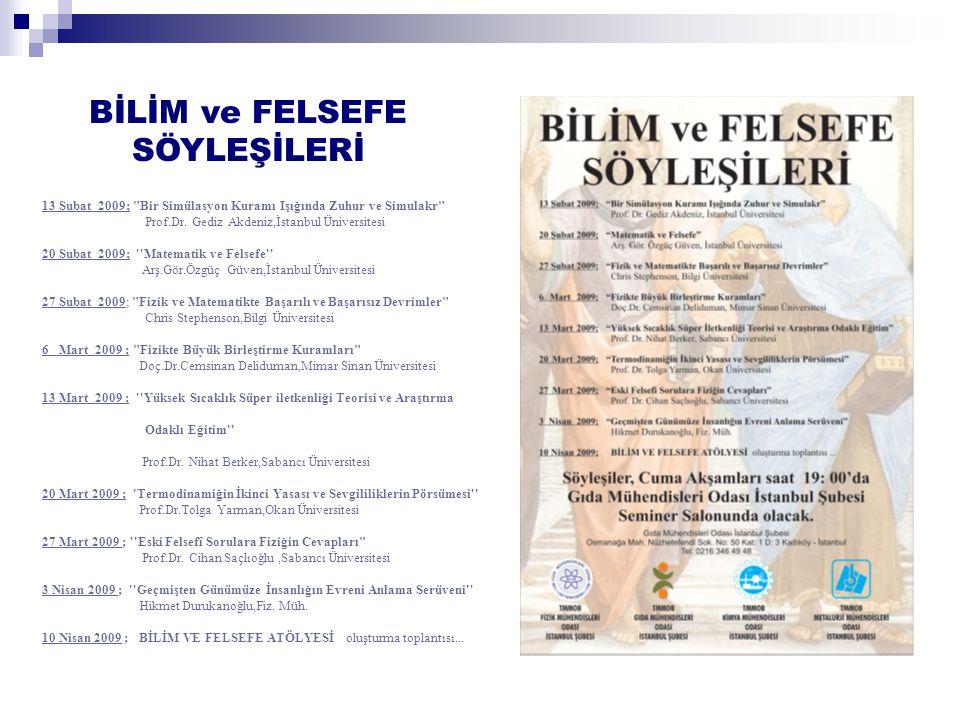 BİLİM ve FELSEFE SÖYLEŞİLERİ 13 Şubat 2009; Bir Simülasyon Kuramı Işığında Zuhur ve Simulakr Prof.Dr.