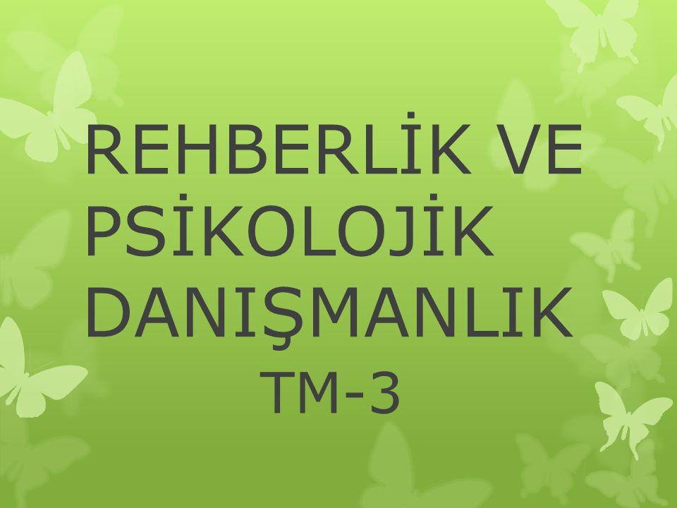 REHBERLİK VE PSİKOLOJİK DANIŞMANLIK TM-3