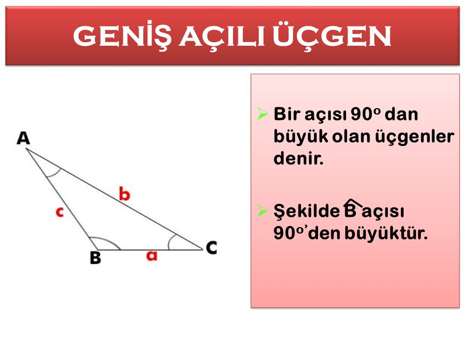 D İ K AÇILI ÜÇGEN D İ K AÇILI ÜÇGEN  Bir açısı 90 o olan üçgenlere denir.  Ş ekilde B açısı 90 o dir. BBir açısı 90 o olan üçgenlere denir. ŞŞ e
