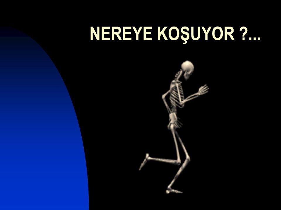 NEREYE KOŞUYOR ...