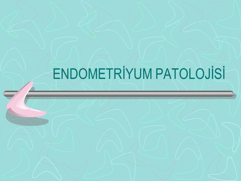 2)Adenosarkom Epitelyal komponenti benign Mezenkimal komponent stromal sarkom veya fibrosarkomdur.