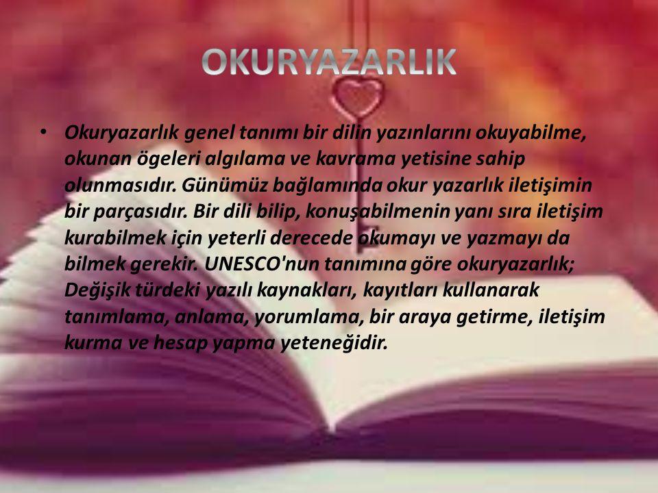 Okuryazarlık genel tanımı bir dilin yazınlarını okuyabilme, okunan ögeleri algılama ve kavrama yetisine sahip olunmasıdır.