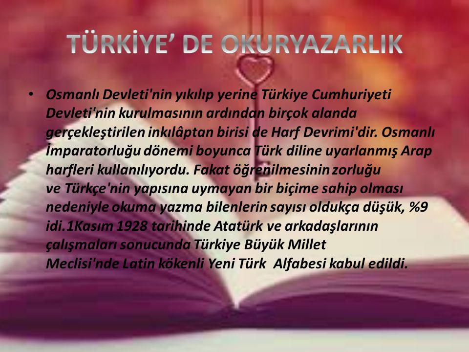 Osmanlı Devleti nin yıkılıp yerine Türkiye Cumhuriyeti Devleti nin kurulmasının ardından birçok alanda gerçekleştirilen inkılâptan birisi de Harf Devrimi dir.