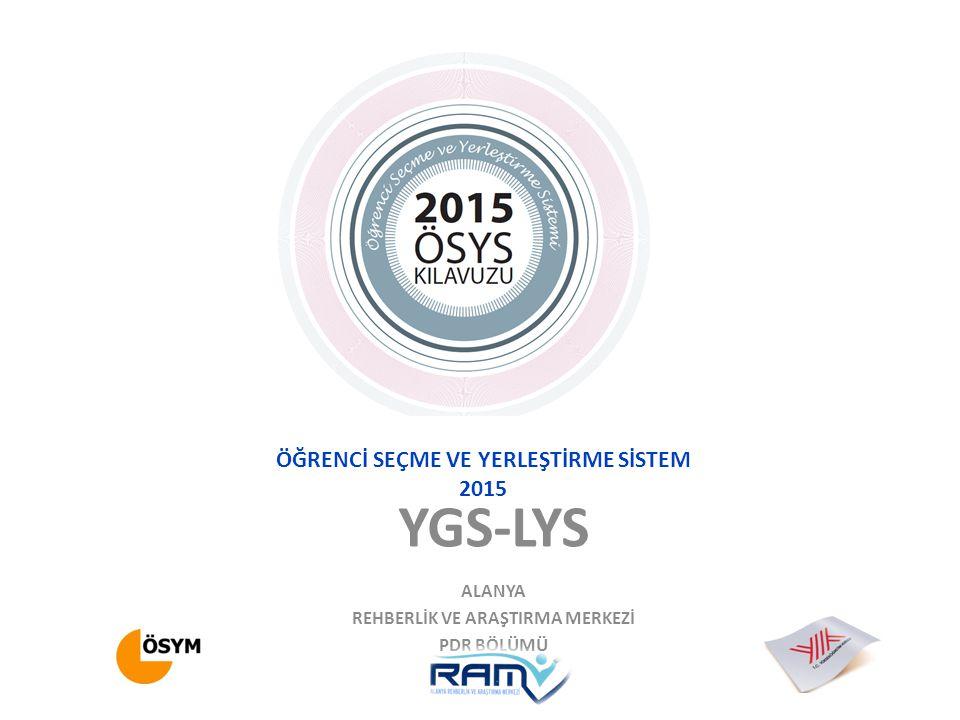 LYS-1 MATEMATİK SINAVI Tek oturumda yapılacak ve 135 dk süresi olacaktır.