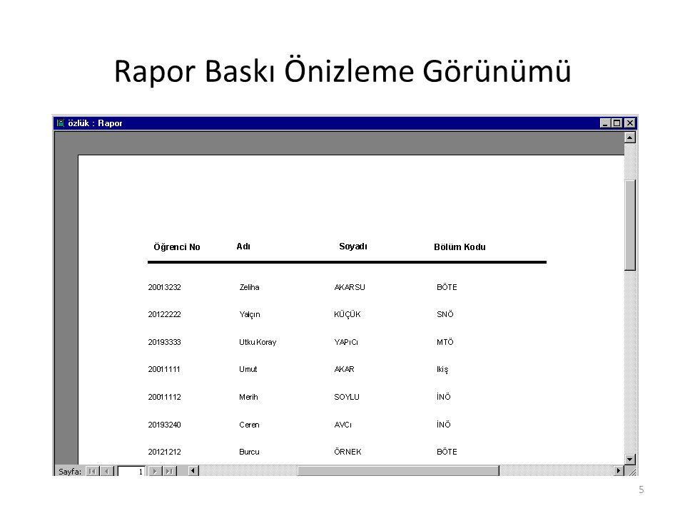 26 Alt Rapor Oluşturma Alt rapor, başka bir rapora ekleyebileceğiniz rapor türüdür.