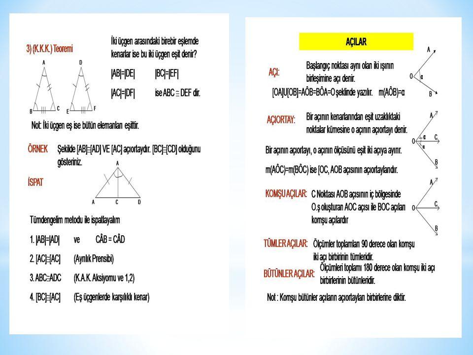 Ters açılar,Ters açılar nedir,Ters açılar nedemektir, Ters açılar:Kesişen iki doğrunun oluşturduğu dört açıdan herhangi ikisine birbirine komşu olmayan açılar (ters açılar) denir.