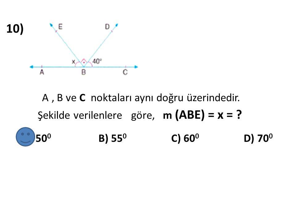 11) Yandaki tabloda gösterilen X, Y ve Z açıları aşağıdaki- lerden hangisinde doğru verilmiştir ?