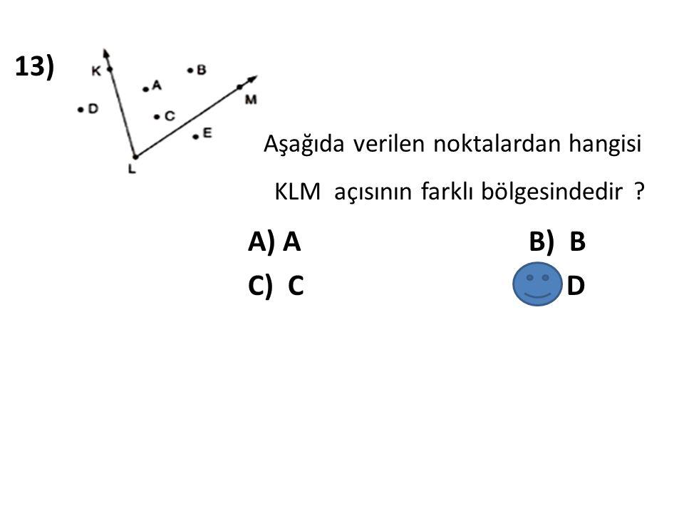 14) Aşağıda verilen açı çiftlerinden hangisi tümler açılardır .
