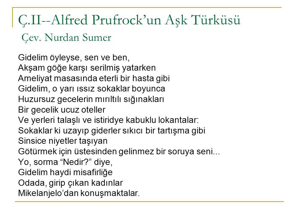 Ç.II--Alfred Prufrock'un Aşk Türküsü Çev.