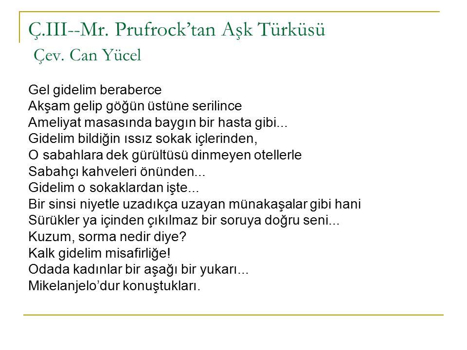 Ç.III--Mr.Prufrock'tan Aşk Türküsü Çev.