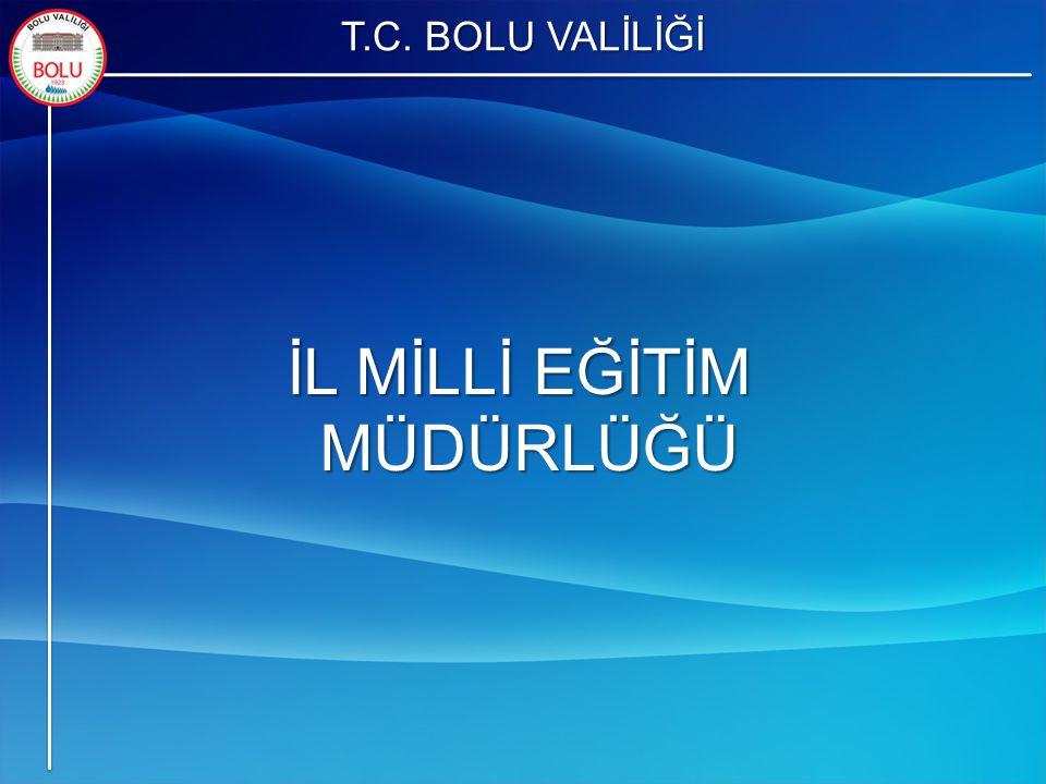 T.C. BOLU VALİLİĞİ İL MİLLİ EĞİTİM MÜDÜRLÜĞÜ