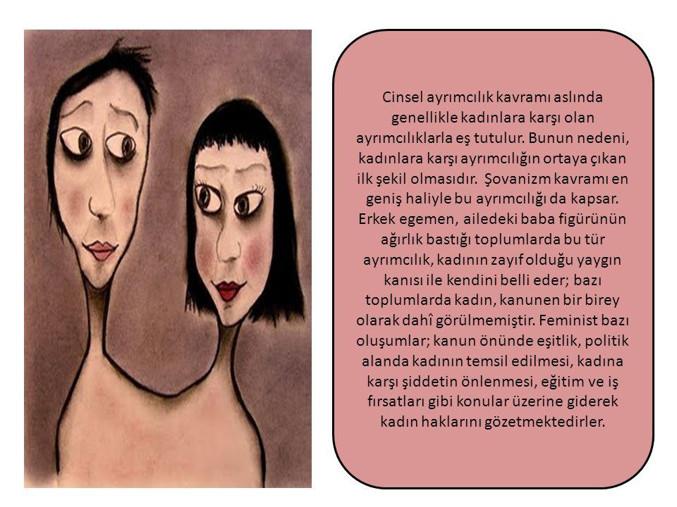 Cinsel ayrımcılık kavramı aslında genellikle kadınlara karşı olan ayrımcılıklarla eş tutulur. Bunun nedeni, kadınlara karşı ayrımcılığın ortaya çıkan