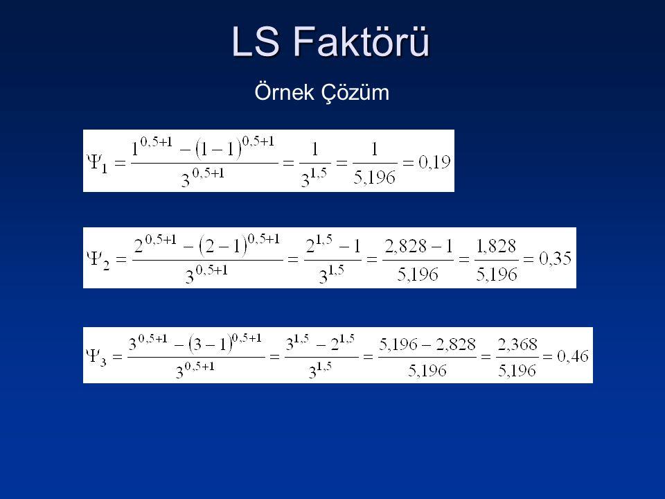 LS Faktörü Örnek Çözüm