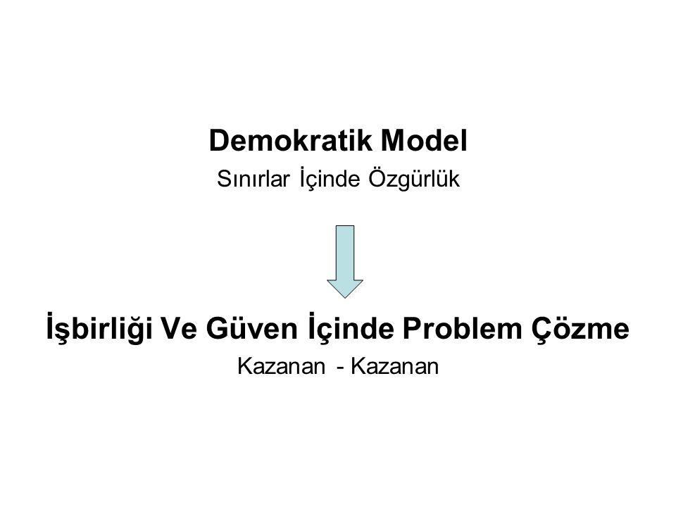 Demokratik Model Sınırlar İçinde Özgürlük İşbirliği Ve Güven İçinde Problem Çözme Kazanan - Kazanan