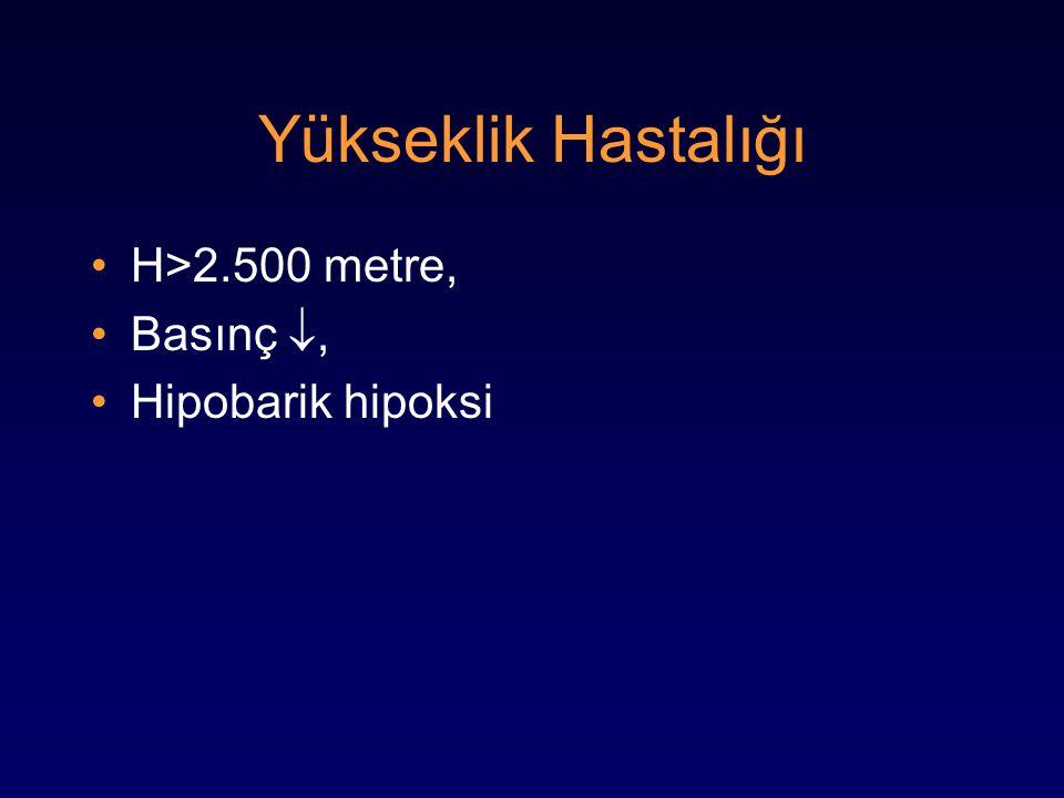 Yükseklik Hastalığı H>2.500 metre, Basınç , Hipobarik hipoksi