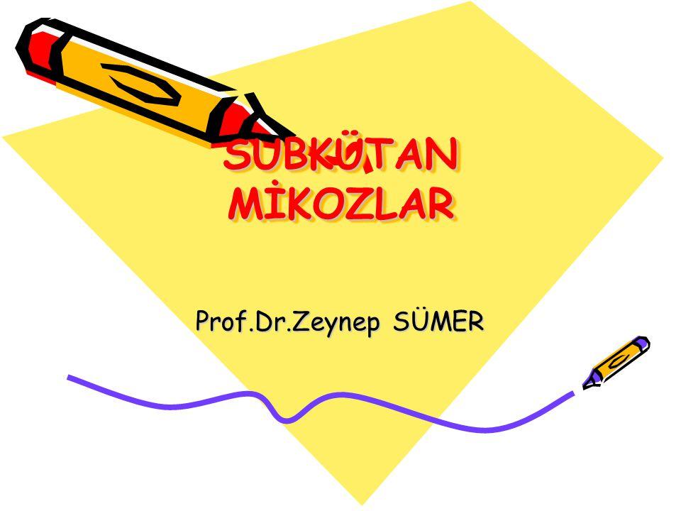 SUBKÜTAN MİKOZLAR Prof.Dr.Zeynep SÜMER