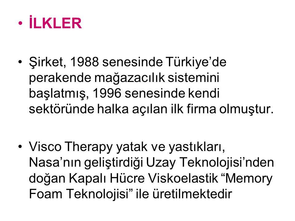 İLKLER Şirket, 1988 senesinde Türkiye'de perakende mağazacılık sistemini başlatmış, 1996 senesinde kendi sektöründe halka açılan ilk firma olmuştur. V