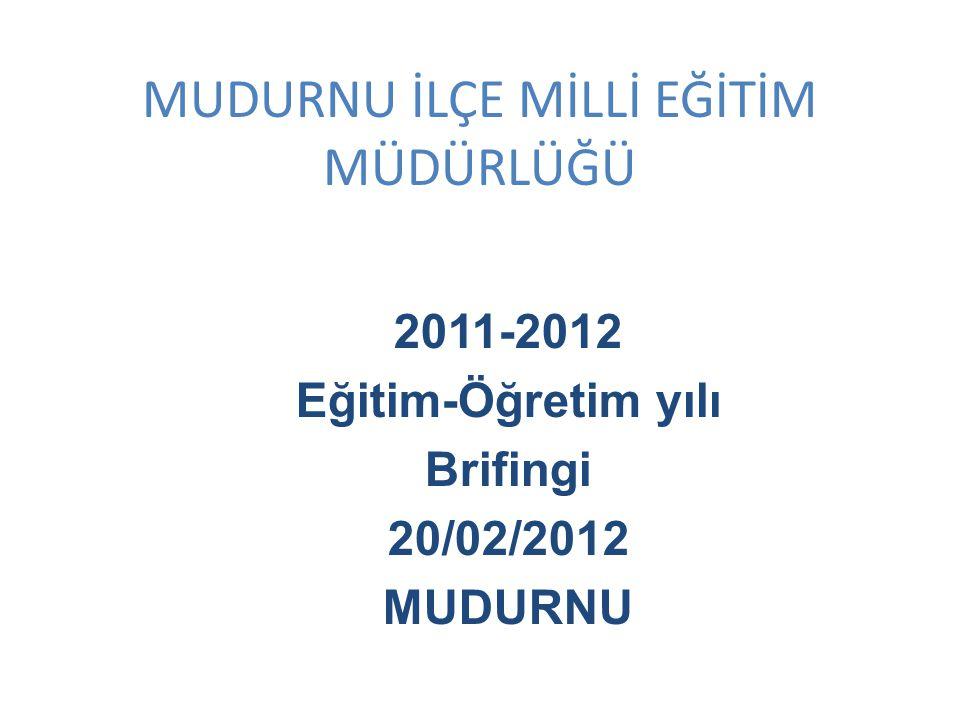 MUDURNU İLÇE MİLLİ EĞİTİM MÜDÜRLÜĞÜ 2011-2012 Eğitim-Öğretim yılı Brifingi 20/02/2012 MUDURNU