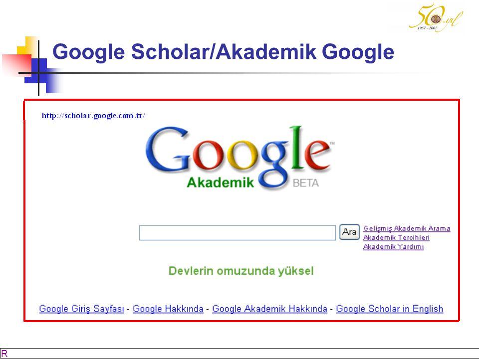M SÖZBİLİR Slayt: 15 Google Scholar/Akademik Google