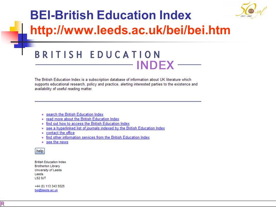 M SÖZBİLİR Slayt: 44 BEI-British Education Index http://www.leeds.ac.uk/bei/bei.htm