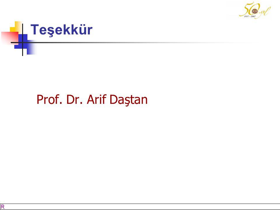 M SÖZBİLİR Slayt: 63 Teşekkür Prof. Dr. Arif Daştan