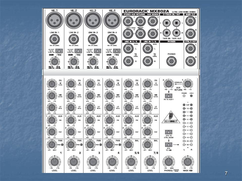 8 Mono module inputs