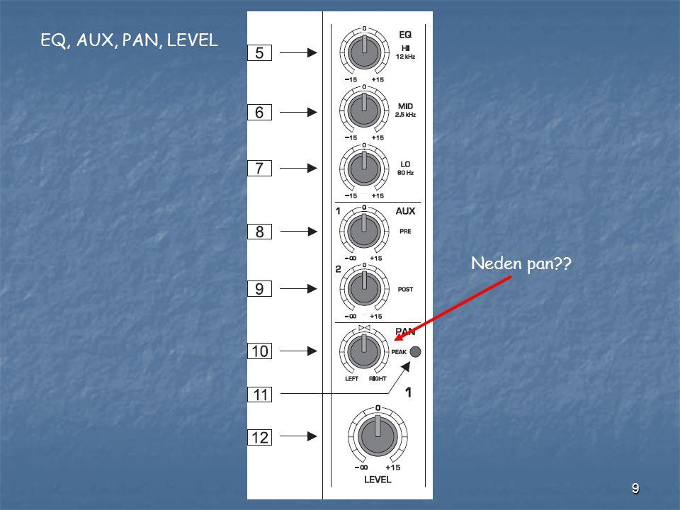 10 Stereo module Neden Balance??