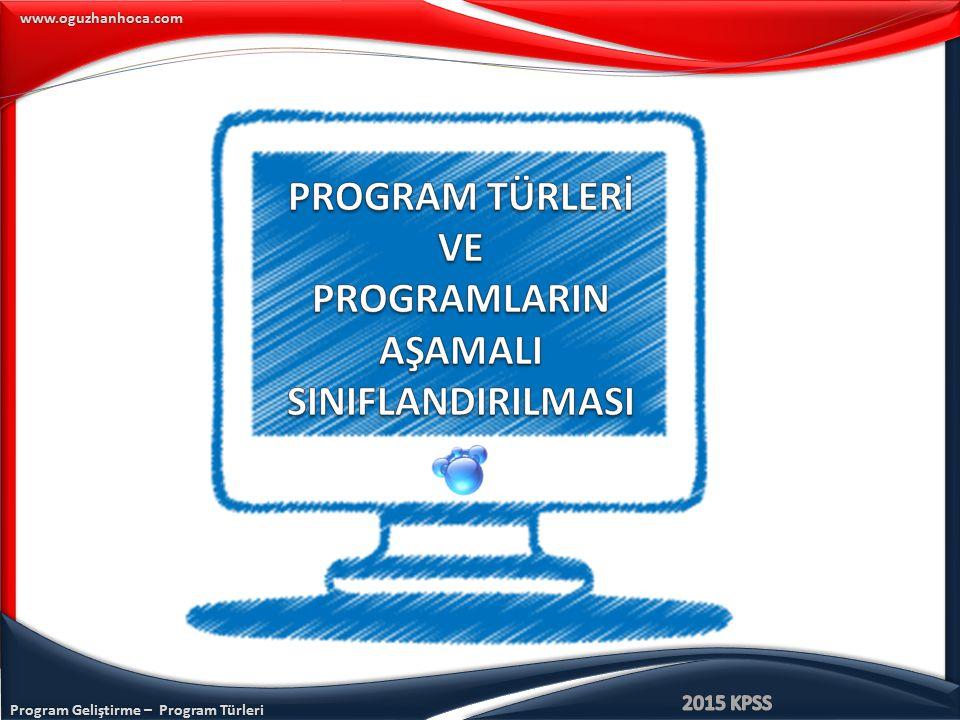 www.oguzhanhoca.com Resmi Program Uygulamadaki Program İhmal Edilen Program Örtük Program Ekstra Program