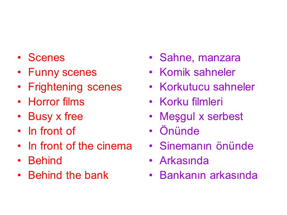 Scenes Funny scenes Frightening scenes Horror films Busy x free In front of In front of the cinema Behind Behind the bank Sahne, manzara Komik sahnele