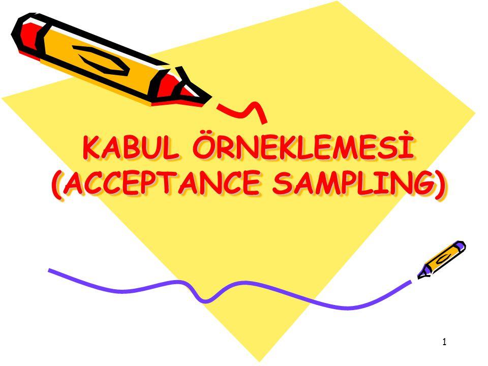 1 KABUL ÖRNEKLEMESİ (ACCEPTANCE SAMPLING)