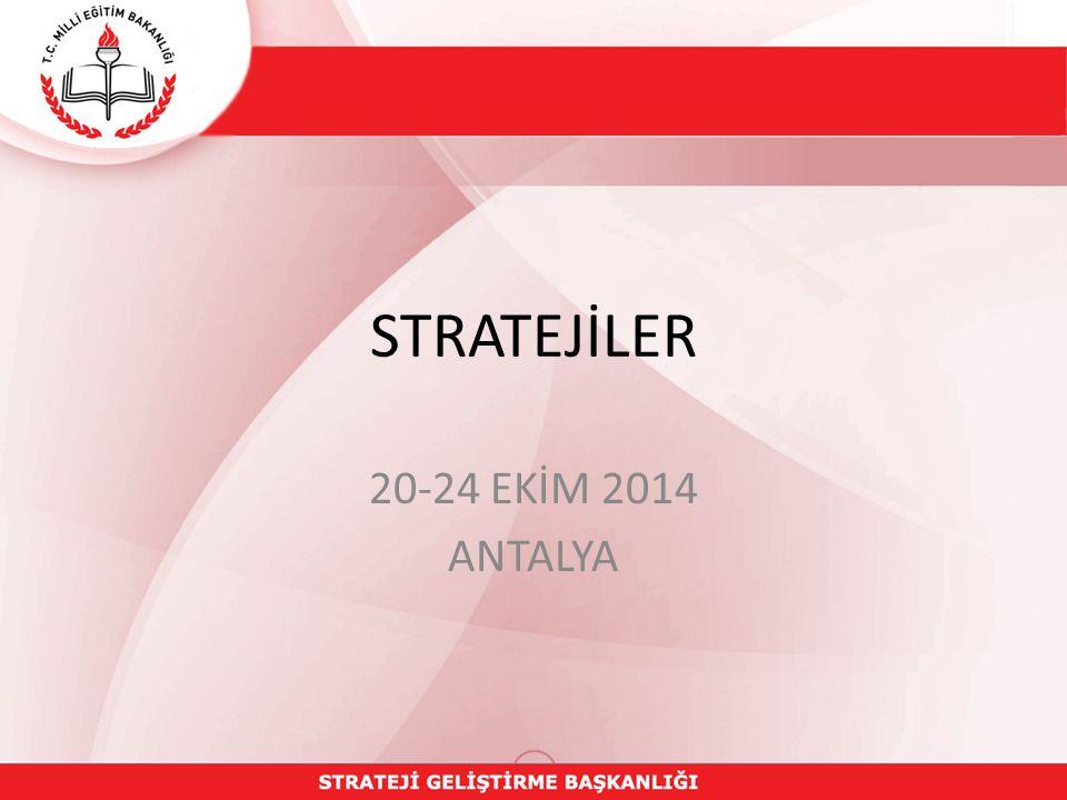 STRATEJİLER 20-24 EKİM 2014 ANTALYA