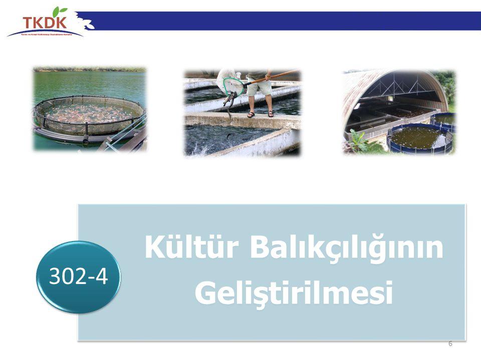 6 Kültür Balıkçılığının Geliştirilmesi 302-4