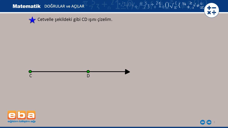 4 Pergelin ucunu N noktasına yerleştirerek şekildeki gibi N açısının kenarlarını kesen bir yay çizelim.
