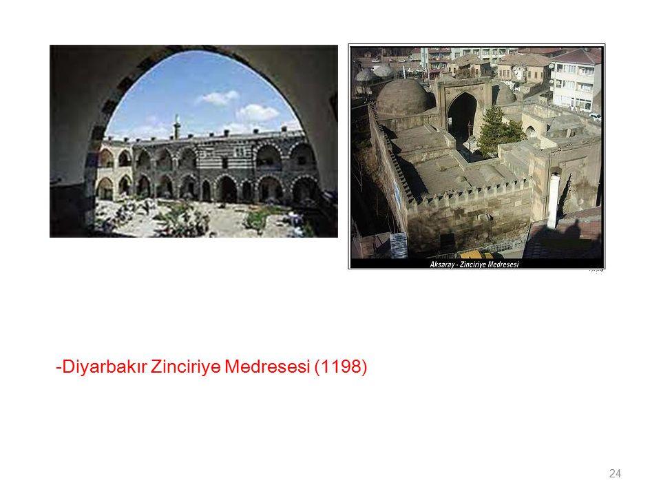 -Diyarbakır Zinciriye Medresesi (1198) 24