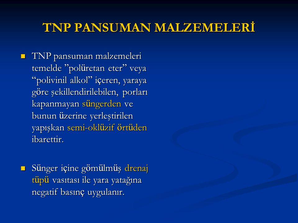 """TNP PANSUMAN MALZEMELERİ TNP pansuman malzemeleri temelde """" pol ü retan eter """" veya """" polivinil alkol """" i ç eren, yaraya g ö re şekillendirilebilen, p"""