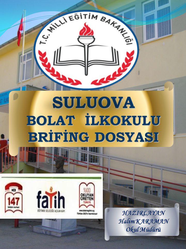 SULUOVA BOLAT İLKOKULU BRİFİNG DOSYASI HAZIRLAYAN Halim KARAMAN Okul Müdürü
