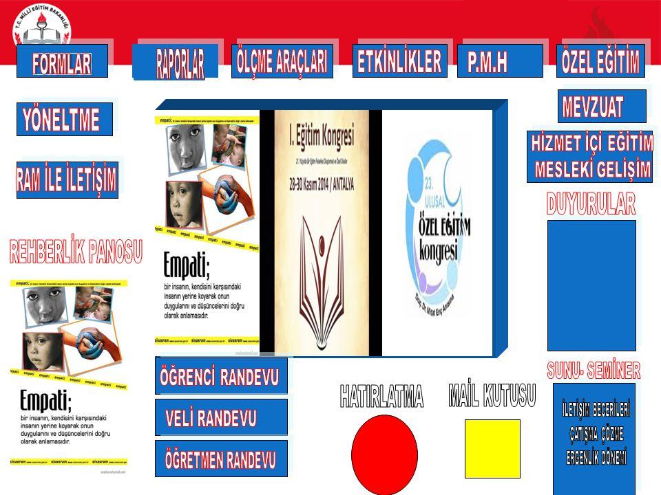 Formlar Sistem öğrenci öğrenci numarası, veli ya da öğretmen için TC kimlik numarası ile çalışıyor.