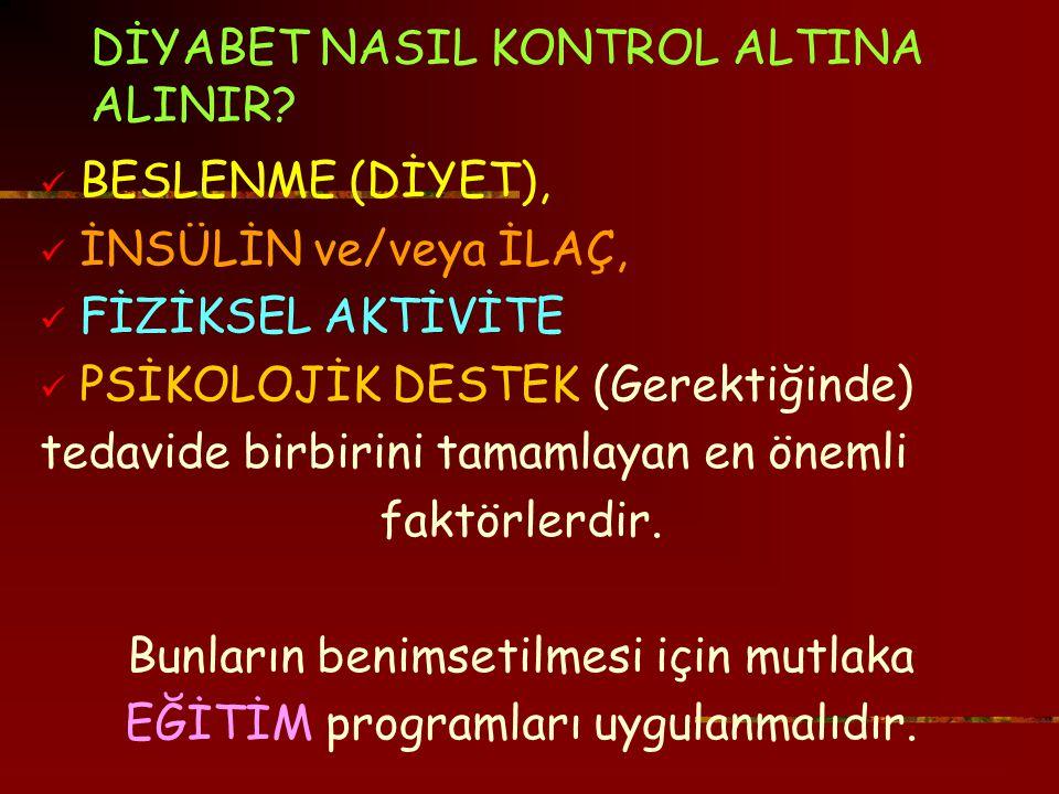 DİYABET NASIL KONTROL ALTINA ALINIR.