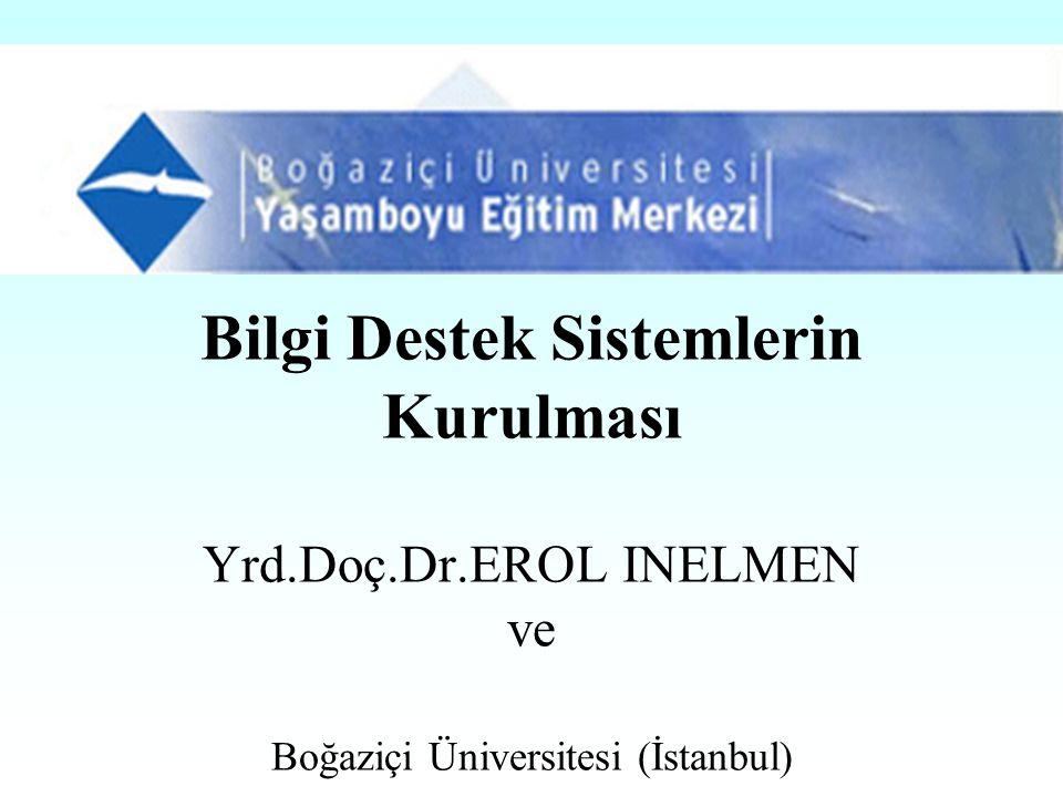 Bilgi Destek Sistemlerin Kurulması Yrd.Doç.Dr.EROL INELMEN ve Boğaziçi Üniversitesi (İstanbul)