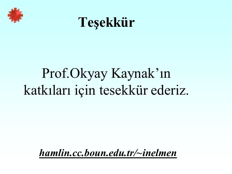 Teşekkür Prof.Okyay Kaynak'ın katkıları için tesekkür ederiz. hamlin.cc.boun.edu.tr/~inelmen