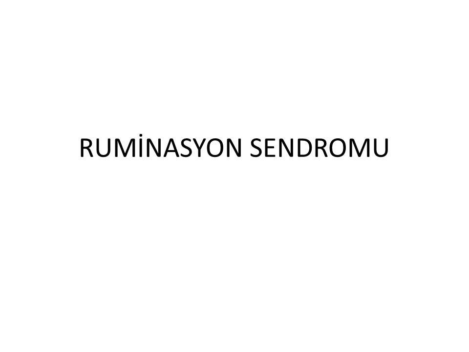 RUMİNASYON SENDROMU