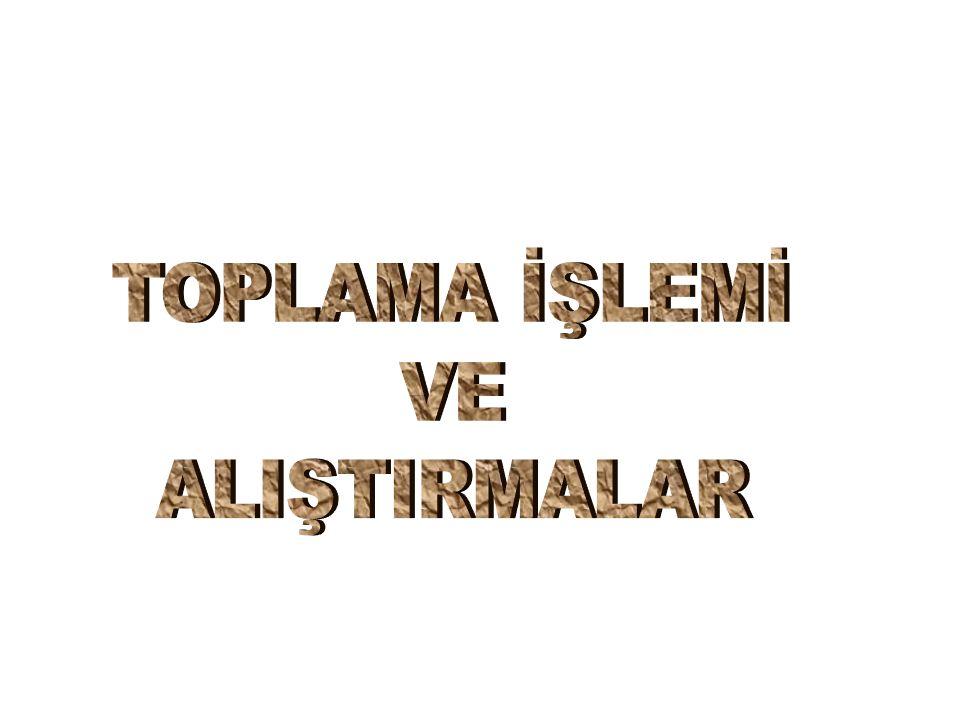 ++TERİM TERİM TERİM TERİM TOPLAM TOPLAM
