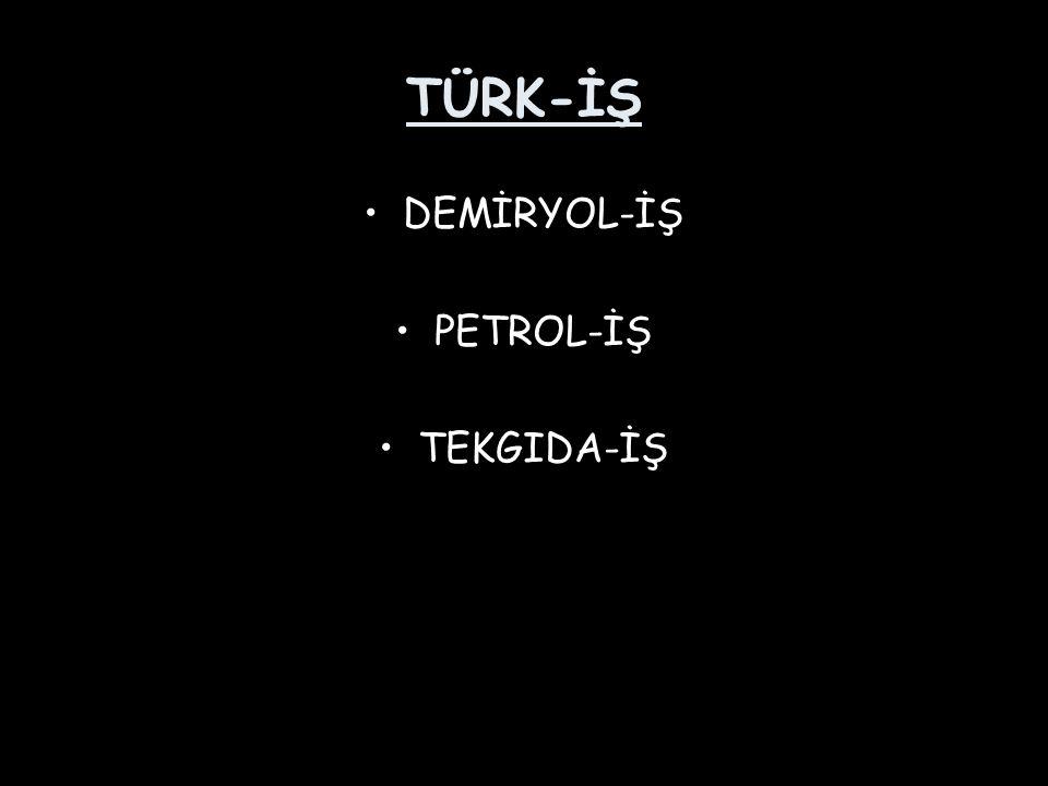 TÜRK-İŞ DEMİRYOL-İŞ PETROL-İŞ TEKGIDA-İŞ